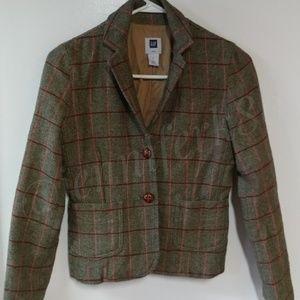 GAP Plaid Wool Blazer Sz 2